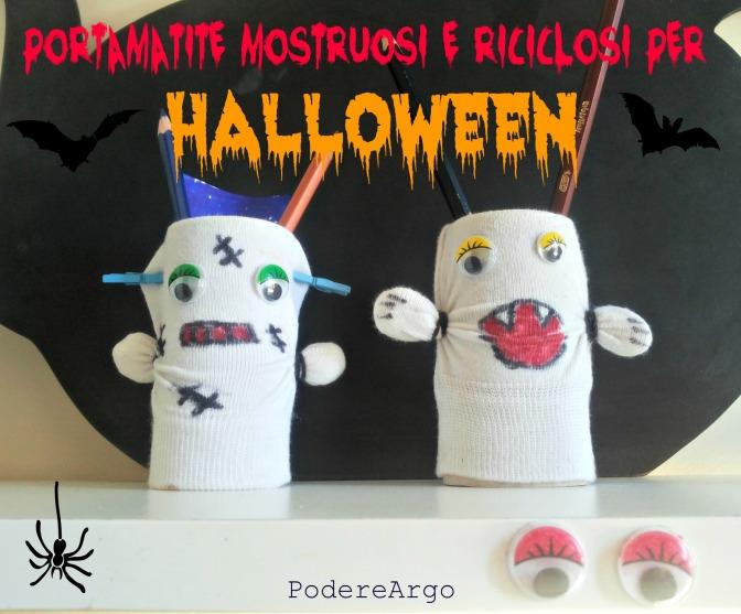 Portamatite mostruosi e riciclosi per Halloween